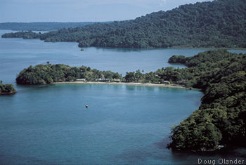 photo of Coiba Adventure's home base, former Club Pacifico, Isla de Coiba, Panama