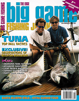 Big Game Fishing Journal cover Sept/Oct 2001 issue